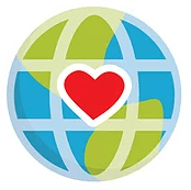 Globe with a Heart